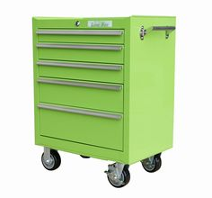 Make dresser to look like this: Lime Green Rolling Tool Box, Lime Box Rolling Tool Cabinet, Green Rolling Toolboxes