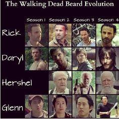 The Walking Dead Beard Evolution :)