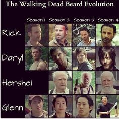 The Walking Dead Beard Evolution :)