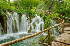 Footbridge, Plitvice Lakes National Park, Croatia. UNESCO World Heritage ✯ ωнιмѕу ѕαη∂у
