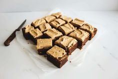 Brown Butter Blondies with Salted Speculoos Frosting