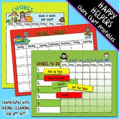 Make your work even easier by adding our 'Happy Helpers' printable chore charts to your cart and SAVE 25% off for a limited time! (Sale ends March 4, 2015)