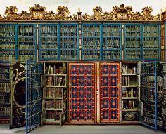 University of Salamanca Library. Salamanca, Spain - be still, my heart! Beautiful Library, Dream Library, Library Books, Library Ideas, Future Library, Old Libraries, Bookstores, School Libraries, Spain