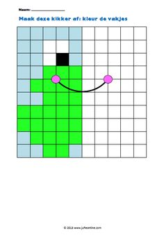 Figuur afmaken kikker Free Printable Puzzles, Pixel Drawing, Math Patterns, Frog Theme, Pix Art, Graph Paper Art, Montessori Activities, Guided Math, Puzzles For Kids