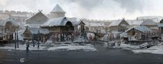 ArtStation - Slavic settlement, Dmitry Dubinsky