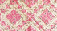 Irish Chain Quilt Pink and While Handmade Custom by belairevillage, $65.00