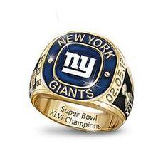 NFL New York Giants 2012 Super Bowl Champions Men's Ring  $199.00