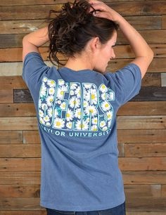 Check out our new Bears shirt with a little crazy daisy touch to it! How cute is that? and your showing your Baylor love!