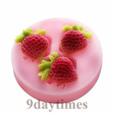 Mini Strawbery Fruit Silicone Mold For Polymer Clay Craft Scrapbooking Fimo 25mm