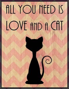 Customizable sign!! Change the colors and design!! All You Need is Love and a Cat  or a Dog with by DesignsbyBry, $14.99