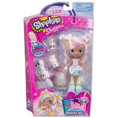 Shopkins Shoppies Season 3 Dolls Single Pack - Marsha Mello Image 1 of 5 Shoppies Dolls, Shopkins And Shoppies, Pop Up Princess, Princess Party, Secret Party, Vip Card, Party Pops, Baby Alive, Doll Stands