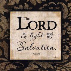 Salmos 27:1 Jehová es mi luz y mi salvación; ¿de quién temeré? Jehová es la fortaleza de mi vida; ¿de quién he de atemorizarme?♔