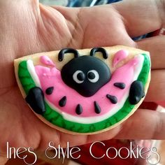 She Likes Watermelon! Watermelon Cookies, Cookie Pizza, Iced Sugar Cookies, Summer Cookies, Cut Out Cookies, Royal Icing, Cookie Decorating, Frosting, Summertime