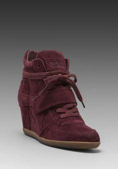Ash Bowie Wedge Sneaker in Bordo