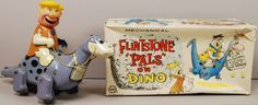 Flintstones 1962 Barney on Dino Flintstone Pals Marx Linemar Wind Up Boxed