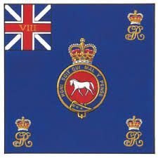 The Royal Warwickshire Regiment 1st battalion Kings colours flag