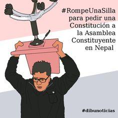 #RompeUnaSilla para pedir una Constitución a la Asamblea Constituyente en Nepal +info http://es.globalvoicesonline.org/2015/01/31/rompeunasilla-en-nepal-para-pedir-una-constitucion-a-la-asamblea-constituyente/