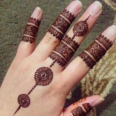 henna tattoo designs that will stain your brain - tattoo ideas Indian Henna Designs, Henna Tattoo Designs Simple, Finger Henna Designs, Mehndi Designs For Beginners, Unique Mehndi Designs, Beautiful Henna Designs, Mehndi Designs For Fingers, Simple Henna, Simple Mehndi Designs