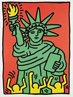 Keith Haring - 1986 (100th anniversary of the Statue of Liberty)