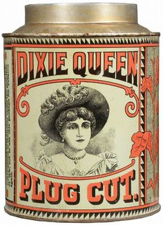 Dixie Queen Plug Cut Tobacco Tin