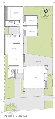 CASA BG de ARBOL Arquitectos | homify House Layout Plans, Modern House Plans, Small House Plans, House Layouts, Architecture Panel, Architecture Details, Mini Loft, Weekend House, Minimalist Home