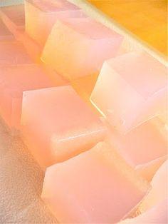 Agar agar rhubarb jelly