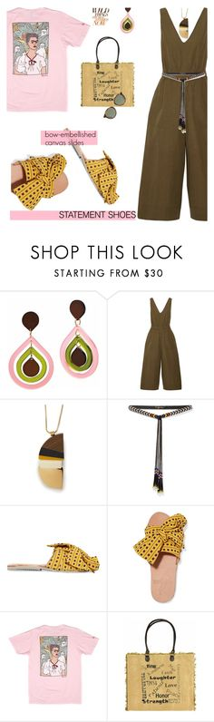 """""""Double Take: Statement Shoes"""" by slavicabojanovic ❤ liked on Polyvore featuring Toolally, Ulla Johnson, Marni, Isabel Marant, Brother Vellies, RIPNDIP, Vintage Addiction, Yves Saint Laurent and statementshoes"""