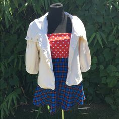3 quarter length Boating jacket Light pea coat jacket perfect for boating in- super cute like sailor moon. Minor paint stain on side. Millard fillmore Jackets & Coats Capes