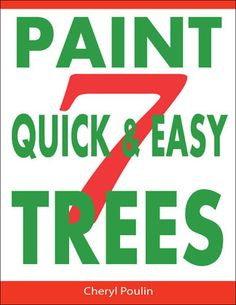 to learn how to paint trees? This very detailed step-by-step tutorial will show you how to paint 4 different trees. You will amaze yourself and enjoy these techniques every time you use them.