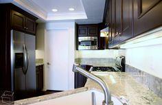 Kitchen Remodel with Custom Dark Brown Cabinets