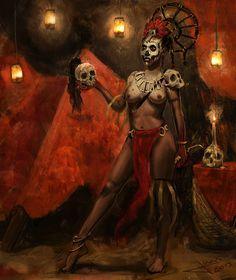 Voodoo priestess [Juan Antonio Blanco]