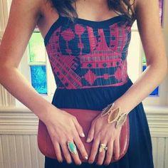 Dress black & red