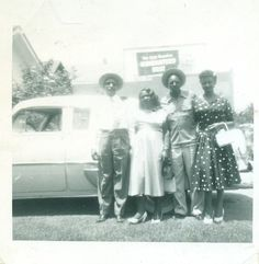 1950s-african-american-black-family-with-car-vintage-image