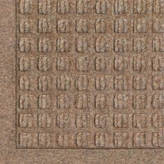 "Andersen 280 Waterhog Fashion Polypropylene Fiber Entrance Indoor/Outdoor Floor Mat, Sbr Rubber Backing, 10' Length X 3' Width, 3/8"" Thick, Medium Brown, 2015 Amazon Top Rated Doormats #BISS"