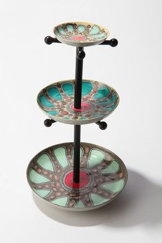 I've been looking for a funtional and pretty jewelry holder recently, and this one really caught my eye! I like the colors and the different size dishes.