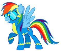 my little pony rainbow dash as a wonderbolt