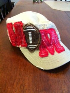 Hey, I found this really awesome Etsy listing at http://www.etsy.com/listing/109018725/football-mom-hat
