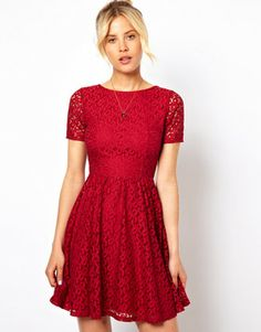 ASOS Skater Dress In Lace on shopstyle.com