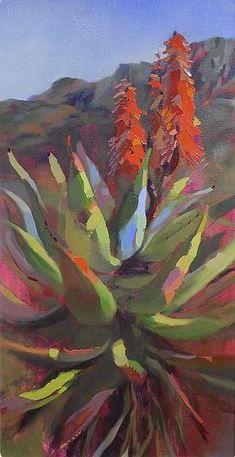 Aloes of Montagu R Flower Canvas, Flower Art, Protea Art, Southwest Art, Seascape Paintings, Art For Art Sake, Art Oil, Art Pictures, Photos