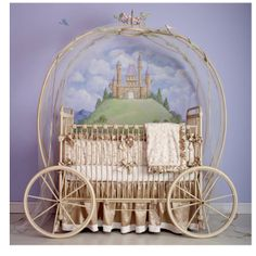 Cute crib for a Cinderella themed nursery ... Although I doubt Gute would let me do it!