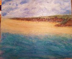 Mixed media seascape by Ajbarnes art Different Media, Beginner Painting, Art Ideas, Mixed Media, Waves, Artist, Outdoor, Outdoors, Artists