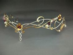 Lorien circlet crown tiara headpiece sterling by ElnaraNiall Medieval Wedding, Celtic Wedding, Medieval Princess, Medieval Jewelry, Circlet, Fantasy Jewelry, Tiaras And Crowns, Hair Jewelry, Jewellery
