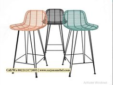 Rattan Barstool model by Design Connected Rattan Bar Stools, Counter Bar Stools, Bar Furniture, Furniture Deals, Save For House, Dining Room Bar, Best Dining, New Kitchen, 3d