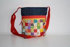 Canvastaschen - Tasche Jeanstasche Umhängetasche Patchwork - ein Designerstück…