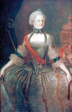 1767 Friederike Charlotte von Brandenburg-Schwedt (1745-1808), last Duchess-Abbess of Herford by Güte (Städtisches Museum - Herford, Nordrhein-Westfalen Germany) | Grand Ladies | gogm