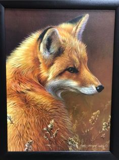 Fox painting I noticed shopping at the Amish market. #Fox #Art