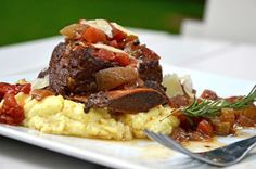 #recipe: braised short ribs over gorgonzola polenta.  Delicious on a cool fall evening.  Pair with Cabernet Sauvignon or Petite Sirah. #wine #pairing #HandCraft