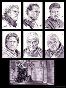 game of thrones portrait series by roberthendrickson on deviantart