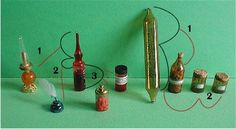 making glass bottles, jars, ink wells, etc.