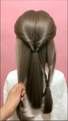 Love This Hairstyle of Long Hair 2020 videos Hairstyle for Long Hair - Hairstyle Compilation part 3 Easy Hairstyles For Long Hair, Braids For Long Hair, Doll Hairstyles, Office Hairstyles, Everyday Hairstyles, Box Braids, Medium Hair Updo Easy, Hairstyles For Teens, Cute School Hairstyles